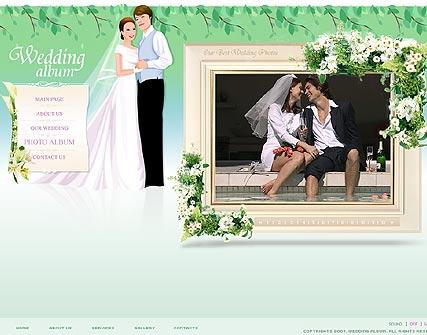 шаблоны сайтов свадьба: