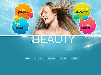 шаблон сайта салона красоты: