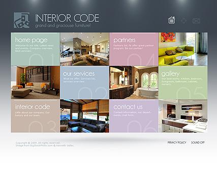 Дизайн интерьера сайта