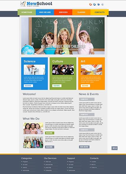 Дизайн сайта школ