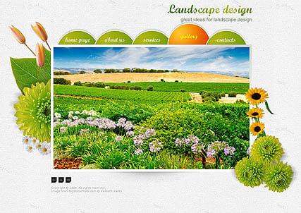 Шаблон сайта ландшафтный дизайн