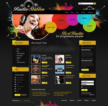 Радио шаблоны - шаблоны сайтов для радио на любой вкус