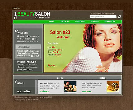 """Beauty saloon"" шаблон сайта"