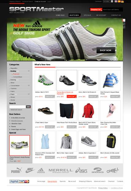 0b9a24219981 Шаблон сайта спортивной одежды
