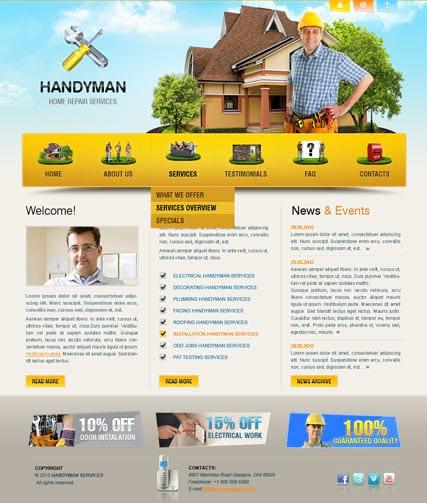 Шаблон сайта ремонт квартир html скачать