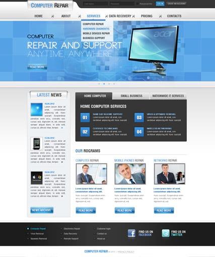 Дизайн сайта ремонт компьютеров