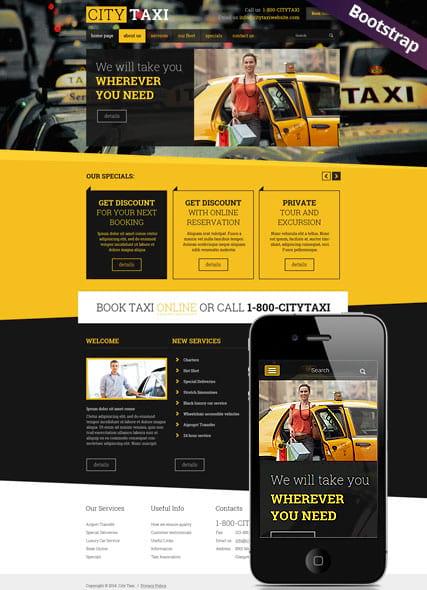 Шаблон Сайта Такси Бесплатно Скачать - фото 9