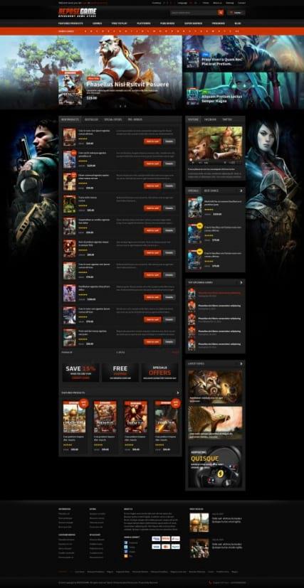 html5 шаблон игрового сайта