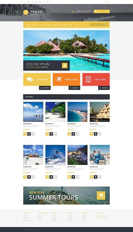 Шаблон сайта туристического агентства OpenCart адаптивный 17852bd4824