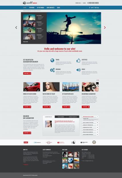Шаблоны новостных сайтов joomla